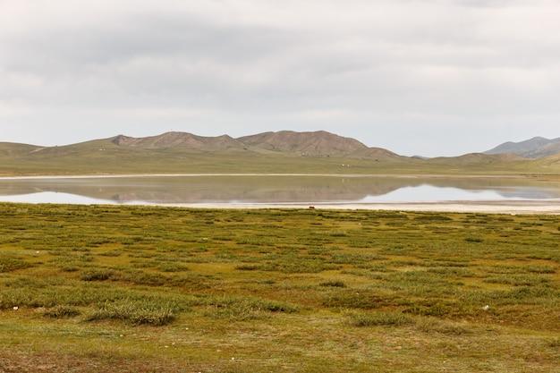 Jezioro Terkhiin Tsagaan Znane Również Jako Białe Jezioro To Jezioro W Górach Khangai W Mongolii Premium Zdjęcia