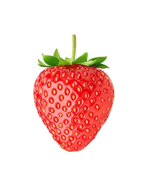 Juicy Red Strawberry Izolowana Premium Zdjęcia