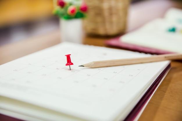 Kalendarz wydarzenia biznesowego planisty, porządku obrad, harmonogramu, planowania, rezerwacji, harmonogramu, przypomnienia o płatności. Premium Zdjęcia