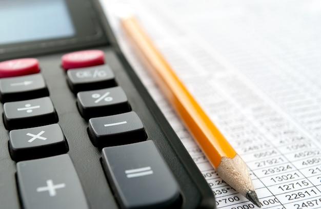Kalkulator zbliżenie Premium Zdjęcia