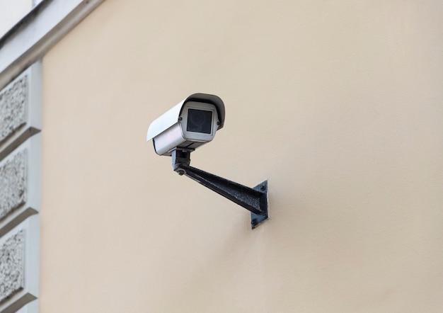 Kamera Wideo Na ścianie Domu. Premium Zdjęcia