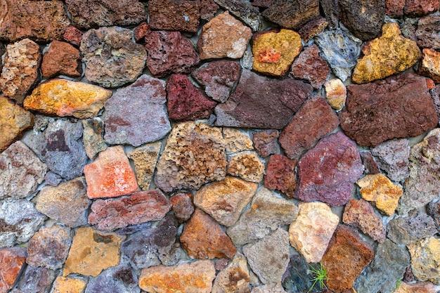 Kamienny mur tekstura tło Premium Zdjęcia