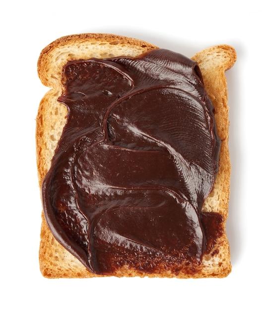 Kanapka Z Białego Chleba Z Pastą Czekoladową Premium Zdjęcia