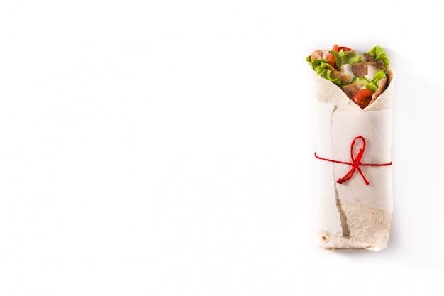 Kanapka Z Kebabem Lub Shawarma Premium Zdjęcia