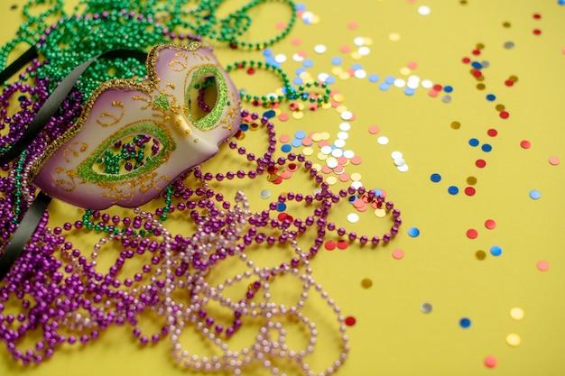 Karnawał lub kompozycja mardi gras Premium Zdjęcia