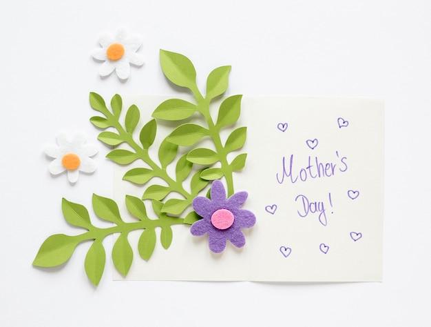 Karta Dnia Matki Z Widokiem Z Góry Darmowe Zdjęcia