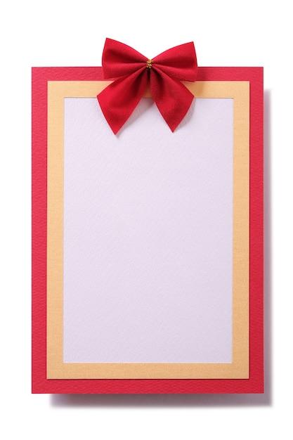 Kartka świąteczna Czerwona Ramka Pionowa Darmowe Zdjęcia