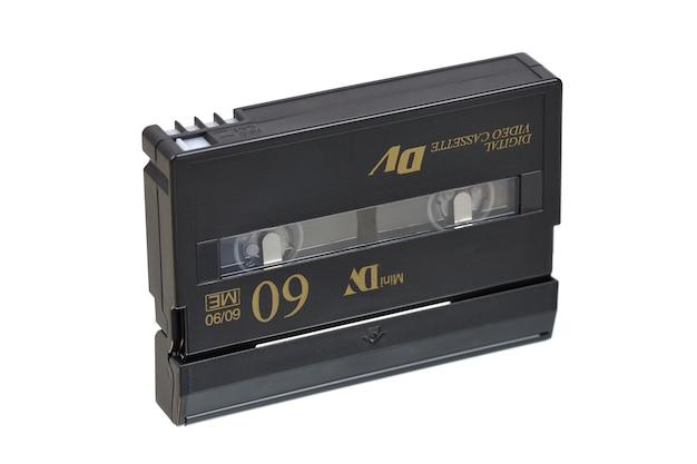 Kaseta Mini Dv Na Białym Tle Premium Zdjęcia