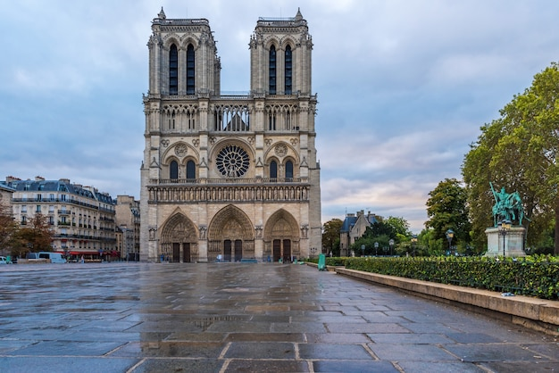 Katedra Notre Dame De Paris, Paryż, Francja Premium Zdjęcia