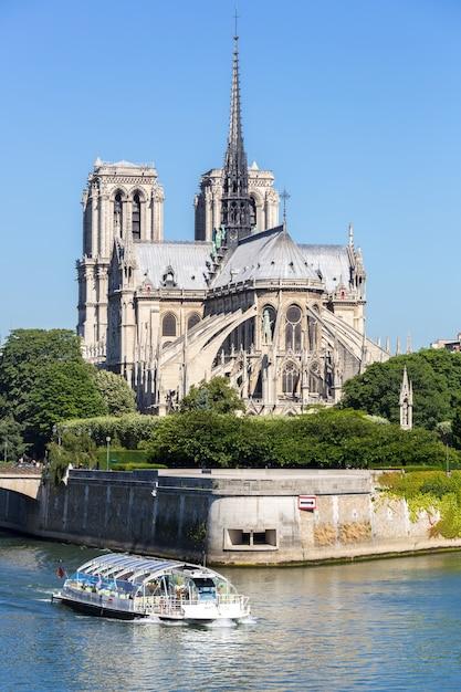 Katedra Notre Dame Paryż Z Rejsem Premium Zdjęcia