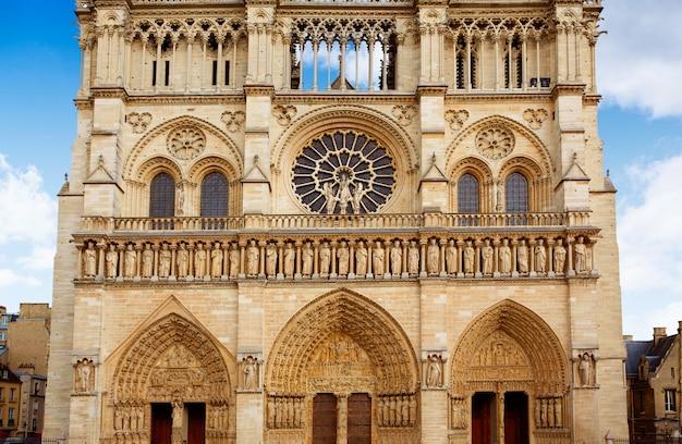 Katedra Notre Dame W Paryżu We Francji Premium Zdjęcia
