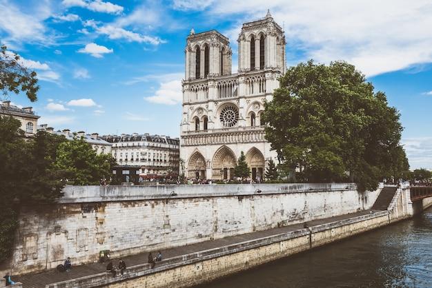 Katedra Notre Dame W Paryżu Premium Zdjęcia