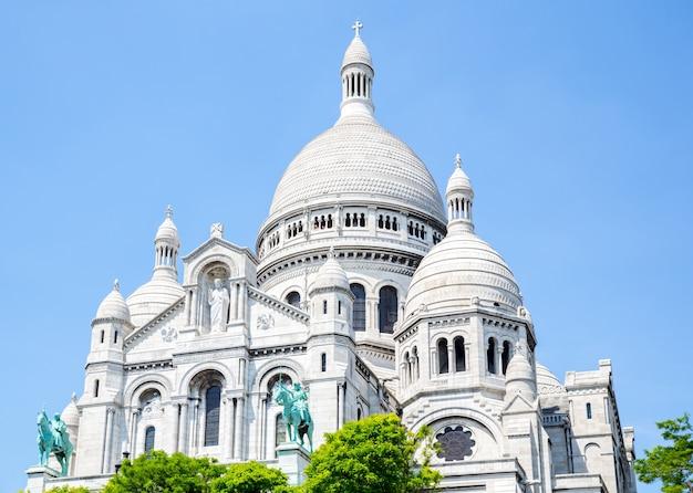 Katedra sacre coeur montmartre, paryż, Premium Zdjęcia