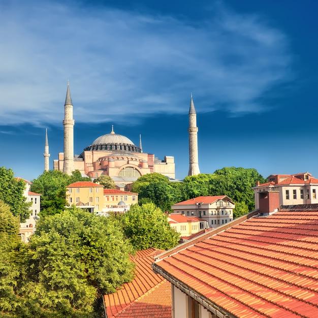 Katedra St. Sophia, Stambuł, Turcja Premium Zdjęcia