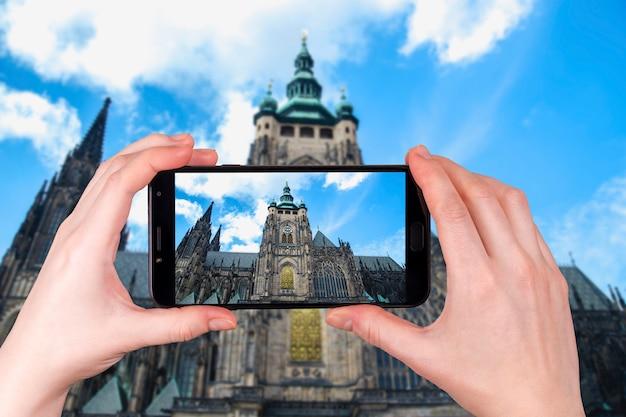Katedra świętego Wita W Pradze, Republika Czeska Premium Zdjęcia