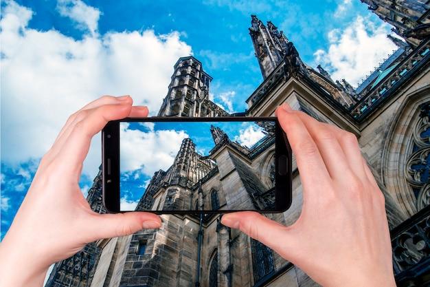 Katedra świętego Wita W Pradze Premium Zdjęcia