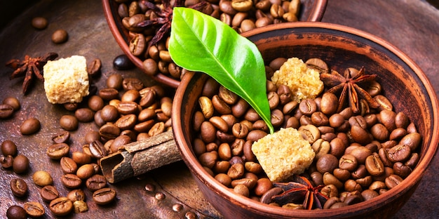 Kawa palona w ziarnach Premium Zdjęcia