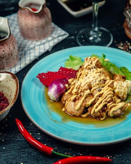 Kawałki kurczaka zwieńczone serem Darmowe Zdjęcia