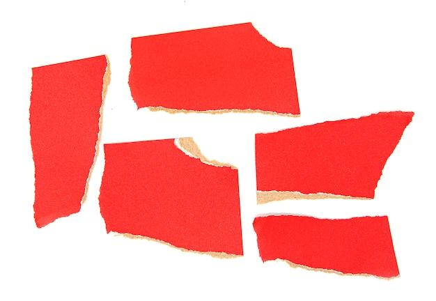 Kawałki Rozdartego Czerwonego Papieru Premium Zdjęcia