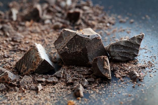 Kawałki słodkiej czekolady Darmowe Zdjęcia