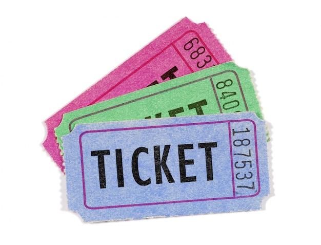 Kilka Biletów Filmowych Lub Losowych Darmowe Zdjęcia