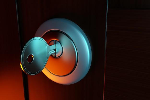 Klucz W Dziurkę Od Klucza, Premium Zdjęcia