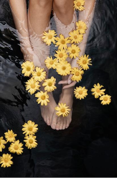 Kobieta Korzystających Z Termalnego Spa Darmowe Zdjęcia