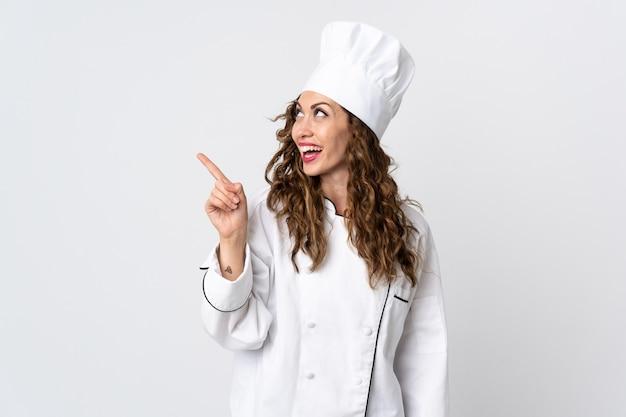Kobieta Młoda Szefa Kuchni Premium Zdjęcia