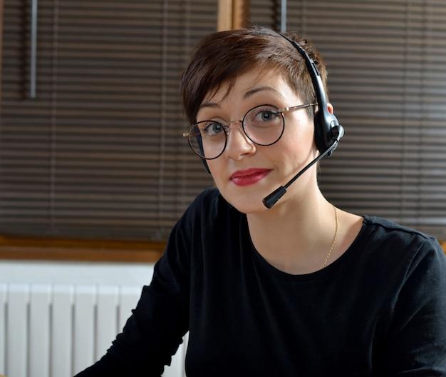 Kobieta Obsługi Klienta Premium Zdjęcia