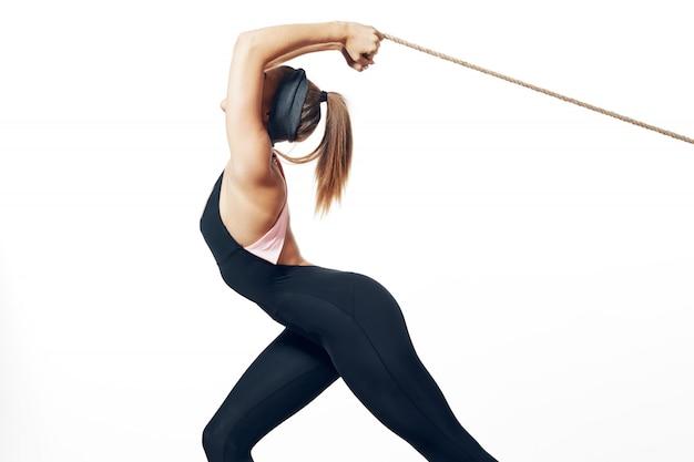 Kobieta Piękne Ciało Sportowca Premium Zdjęcia