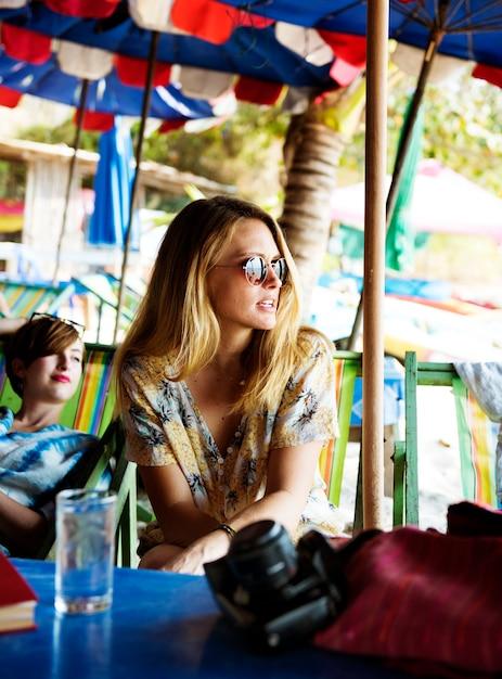 Kobieta wakacyjna podróż podróży relaks Darmowe Zdjęcia