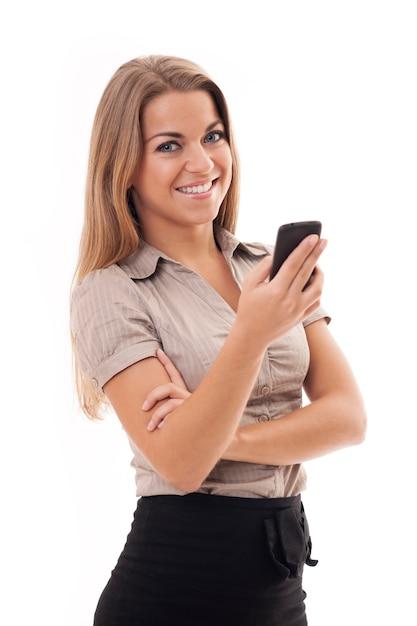 Kobieta Za Pomocą Telefonu Komórkowego Darmowe Zdjęcia