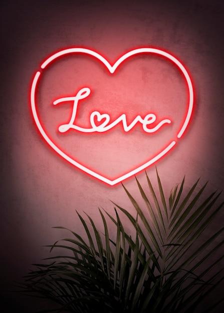 Kochaj neon Darmowe Zdjęcia
