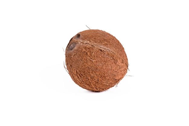 Kokos Na Białym Tle Premium Zdjęcia