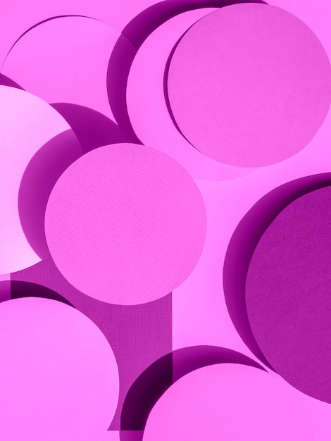 Koła fioletowego papieru geometryczne tło Darmowe Zdjęcia