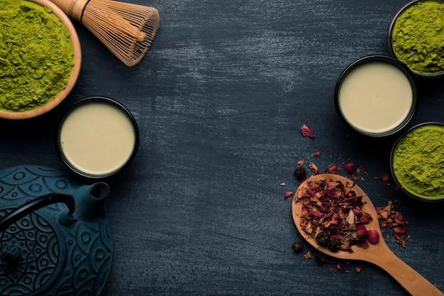 Kolekcja azjatyckich herbat matcha Darmowe Zdjęcia