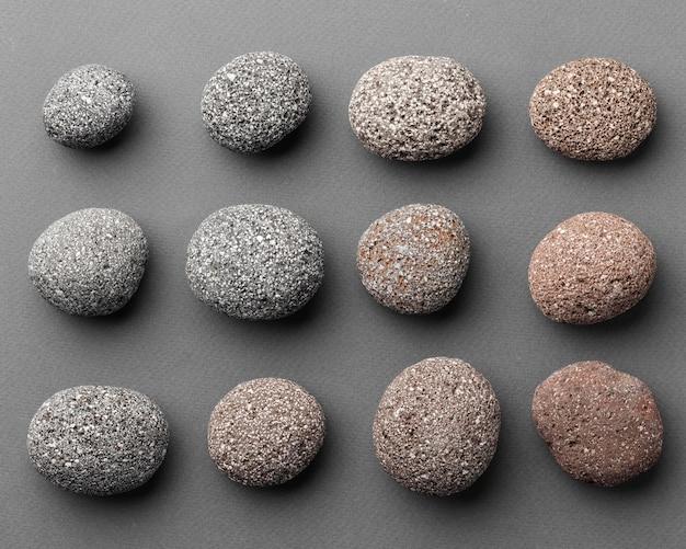Kolekcja Kamieni Z Widokiem Z Góry Darmowe Zdjęcia