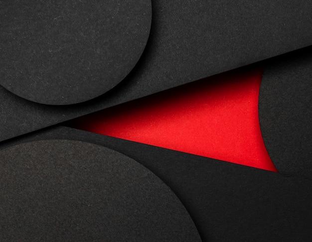 Koło Czarnych I Czerwonych Warstw Papieru Darmowe Zdjęcia