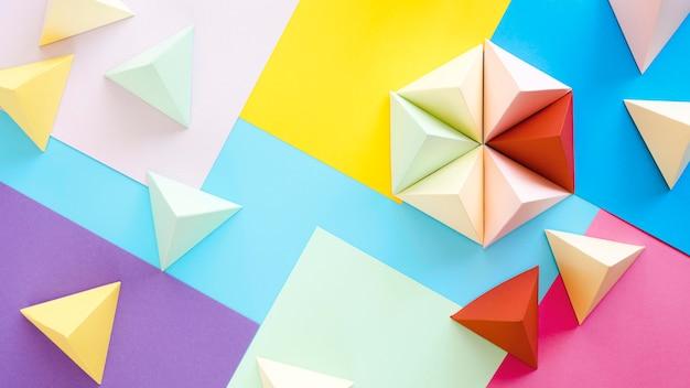 Kolorowa Kolekcja Geometryczna Widok Z Góry Premium Zdjęcia