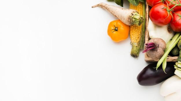 Kolorowa Kompozycja Warzyw Z Miejsca Na Kopię Darmowe Zdjęcia