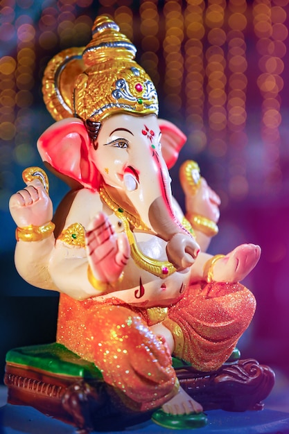 Kolorowa Statua Ganesha Premium Zdjęcia