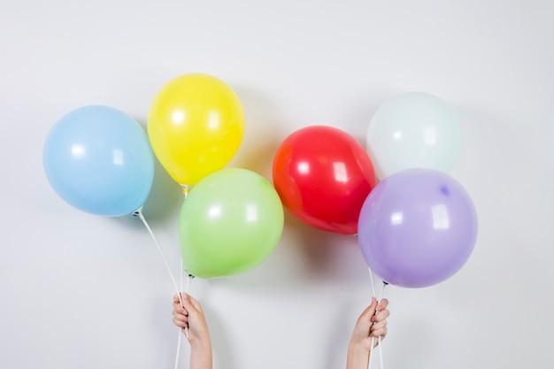 Kolorowe balony na urodziny Darmowe Zdjęcia