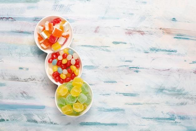Kolorowe Cukierki, Galaretki I Marmolady, Niezdrowe Słodycze Darmowe Zdjęcia