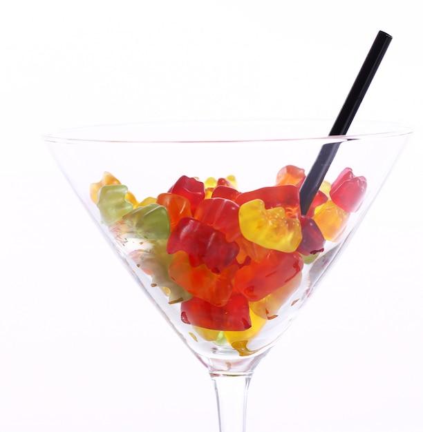 Kolorowe Cukierki żelki W Szkle Darmowe Zdjęcia