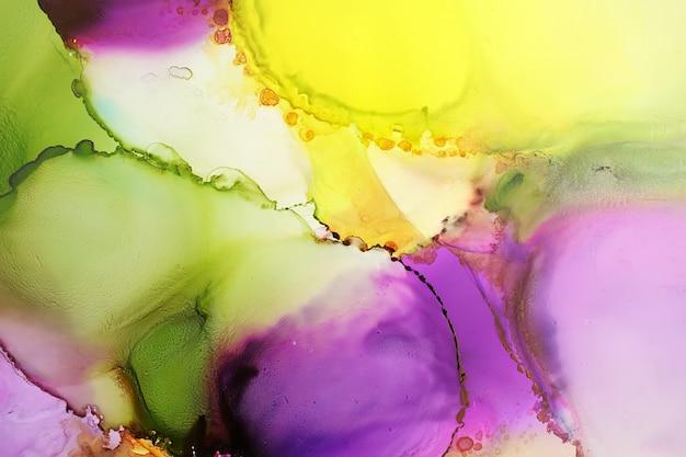 Kolorowe Malowanie Tuszem Alkoholowym Premium Zdjęcia