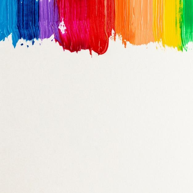 Kolorowe obrysy farby i miejsce Darmowe Zdjęcia