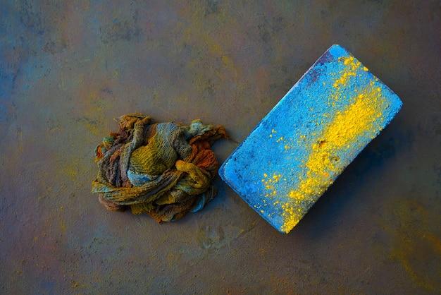 Kolorowe podkładki na szmatę i dyfuzor na tlenku Premium Zdjęcia