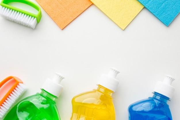 Kolorowe produkty czyszczące kopiować miejsca Darmowe Zdjęcia