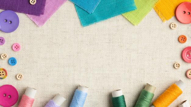 Kolorowe Przyciski I Ramki Tkaniny Darmowe Zdjęcia
