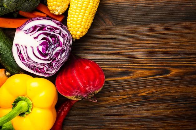 Kolorowe Pyszne Warzywa Układ Z Miejsca Kopiowania Darmowe Zdjęcia